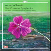 Rosetti: Oboe Concertos; Symphonies / Kurt W Meier, oboe