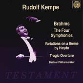 Brahms: The Four Symphonies, etc / Rudolf Kempe, Berlin PO