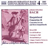 Naxos Bach Edition 4 - Bach: Harpsichord Concertos II / Hill