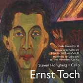 Toch: Cello Sonata,  Cello Concerto, etc / Honigberg, et al
