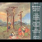 Bach: St Matthew Passion / Ferrier, Karajan, Vienna SO