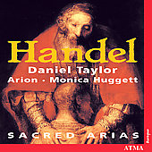 Handel: Sacred Arias / Taylor, Huggett, Ensemble Arion