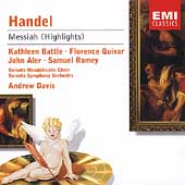 Handel: Messiah (Highlights) / Davis, Battle, Quivar, et al