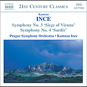 Ince: Symphonies no 3 & 4 / Ince, Prague Symphony Orchestra