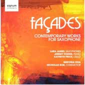 Glass: Facades;  Rogers, Muczynski, MacDonald, Painter, Fitkin: Contemporary Works for Saxophone / Lara James, et al