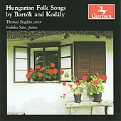 Hungarian Folk Songs by Bart&oacute;k and Kodaly / Thomas Bogdan, Yoshiko Sato