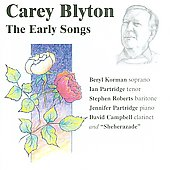 Various Artists: Carey Blyton: The Early Songs