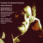 Simon Bainbridge: Fantasia for Double Orchestra; Viola Concerto; Concertante in Moto Perpetuo