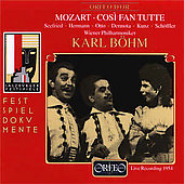 Festspieldokumente - Mozart: Cos&#236; Fan Tutte / Karl B&#246;hm