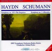 Haydn: Symphony no 103;  Schumann: Symphony no 3