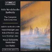 Mendelssohn: Complete Solo Concertos / Markiz, van Keulen
