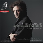 Shostakovich & Weinberg: Cello Concertos / Nicolas Altstaedt, cello; Deutscehs SO Berlin, Nesterowicz