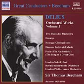 Delius: Orchestral Works Vol 1 / Beecham, Royal PO