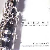 Mozart: Divertimenti for Basset Horn / Trio Ébenè
