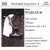 The English Song Series 4 - Warlock: The Curlew, etc
