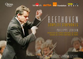 Beethoven: Symphonies Nos. 1 - 9 / Paris National Opera Orchestra & Chorus / Philippe Jordan (live from the Opéra Bastille & Palais Garnier, 2014-2015) [3 Blu-ray]