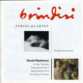 Matthews: Chamber Music / Nicholas Daniel, Brindisi Quartet