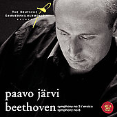 Beethoven: Symphonies no 3 & 8 / P. J&auml;rvi, et al