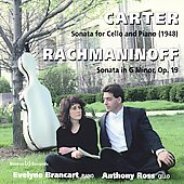 Carter, Rachmaninoff: Cello Sonatas / Ross, Brancart