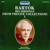 Bartók Recordings from Private Collections