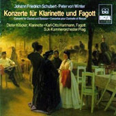 Johann Friedrich Schubert, Peter von Winter: Concertos for clarinet and Bassoon / Dieter Klocker, clarinet; Karl-Otto Hartmann, bassoon