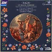Bach: St Mark Passion;  Keiser / Webber, Cambridge Baroque