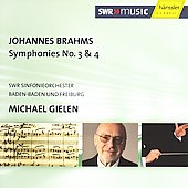Brahms: Symphonies no 3 & 4 / Gielen, SWR SO