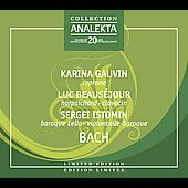 Bach: Little Notebook for Anna Magdalena Bach (Selections) / Gauvin, Beaus&eacute;jour, Istomin