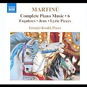 Martinu: Complete Piano Music Vol 6 / Giorgio Koukl