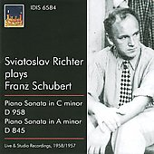 Schubert: Piano Sonata In A Minor D 845 & In C Minor D 958
