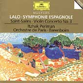 Lalo: Symphonie Espagnole;  Saint-Sa&#235;ns / Perlman, Barenboim