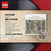 Mozart: Requiem; Bruckner: Te Deum / Dietrich Fischer-Dieskau, Janet Baker, Nicolai Gedda, Sheila Armstrong. Barenboim