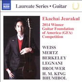 Ekachai Jearakul: 2014 Winner Guitar Foundation of American Competition - works by Weiss, Mertz, Berkeley, Legnani, Brouwer, H.M. King, Bhumibol