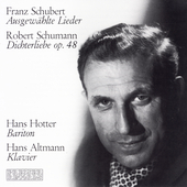 Schumann, Schubert: Lieder / Hans Hotter, Hans Altmann