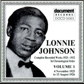 Lonnie Johnson: Complete Recorded Works (1925-1932), Vol. 1: 1925-1926