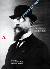 Satiesfictions, promenades with Erik Satie (a film by Anne-Kathrin Peitz & Youlian Tabakov). Featured appearances by Jean Cocteau, Man Ray, Henri Sauguet, Georges Auric & Virgil Thomson [DVD]