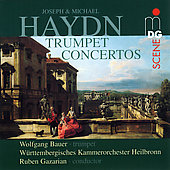 SCENE Joseph & Michael Haydn: Trumpet Concertos / Bauer