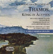 Mozart: Thamos - King of Egypt / Giulini, Meneguzzer, Zilio, Frascati, et al