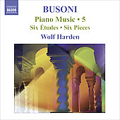 Busoni: Piano Music Vol 5 / Wolf Harden