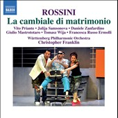 Rossini: La Cambiale Di Matrimonio / Franklin, Priante, Samsonova, Zanfardino, Mastrototaro
