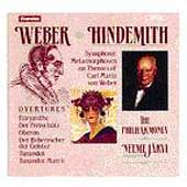 Weber: Overtures;  Hindemith / J&auml;rvi, The Philharmonia