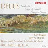 Delius: Sea Drift, Songs of Sunset, etc / Hickox, Terfel