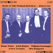 Music in the Weimar Republic - Berlin, 1929 / Walter, et al