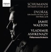 Schumann & Dvorak: Cello Concertos; Silent Woods / Jamie Walton, cello. Ashkenazy, Philharmonia Orch.