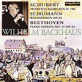 Schubert: Moments musicaux;  Schumann, Beethoven / Backhaus