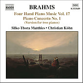 Brahms: Four-Hand Piano Music Vol 17 / Matthies, K&ouml;hn