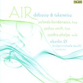 Takemitsu: Air, Toward the Sea 2, etc;  Debussy: Sonate, Syrinx, Danses sacre&eacute; et profane / Reischl, Oberlin 21