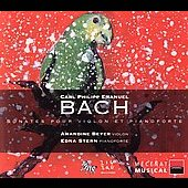 C.P.E. Bach: Sonatas for Violin & Fortepiano / Beyer, Stern