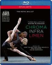 Wayne McGregor: Three Ballets - Chroma, Infra, Limen [Blu-Ray]