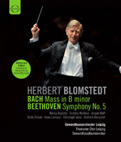 Gewandhausorchester Leipzig Anniversary - Blomstedt conducts Bach: Mass in B minor; Beethoven: Symphony 5 [Blu-Ray]